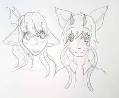 Sketch Marina and Kai by Firefoxgirl96