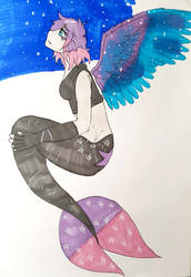 Mermay day: 23 Space [this bby needs some wings] by Firefoxgirl96