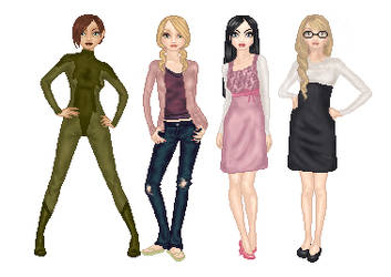 The Artemis Fowl Girls by Sea-Glass