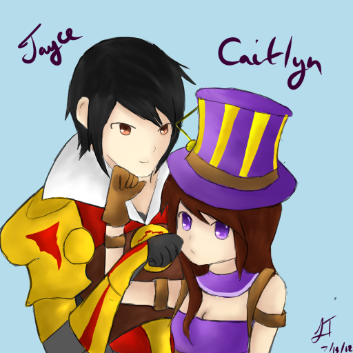 en parejas - Página 3 League_of_legends__jayce_and_caitlyn_by_themutemagician-d57695s