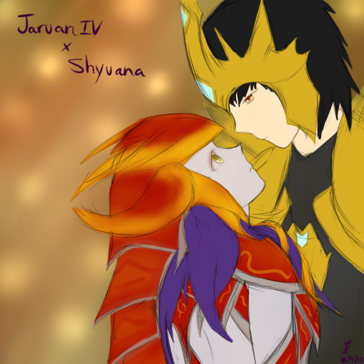 League of Legends: Jarvan x Shyvana by TheMuteMagician