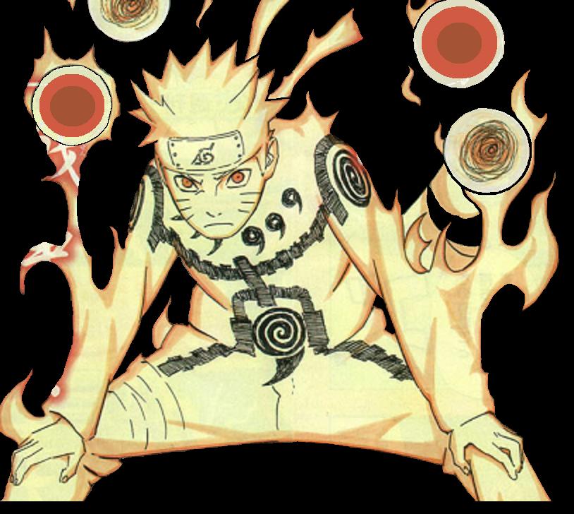 Naruto Nine-Tails Chakra mode by KakashiSensei78 on DeviantArt