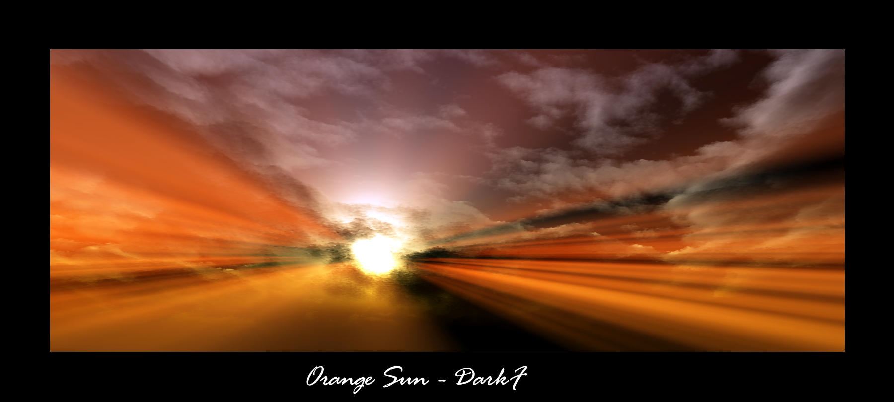 Orange Sun by d4rkf