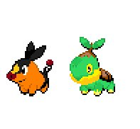 Tepig and Turtwig by PrincesaNamine