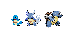 Squirtle Evolution by PrincesaNamine