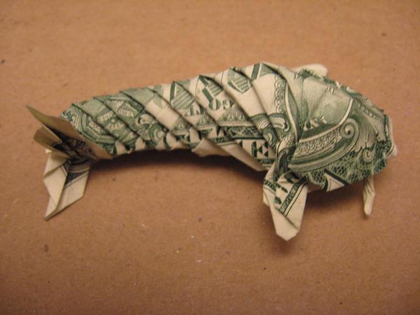 Dollar koi fish by ahnimeroolz on deviantart for Dollar bill koi fish
