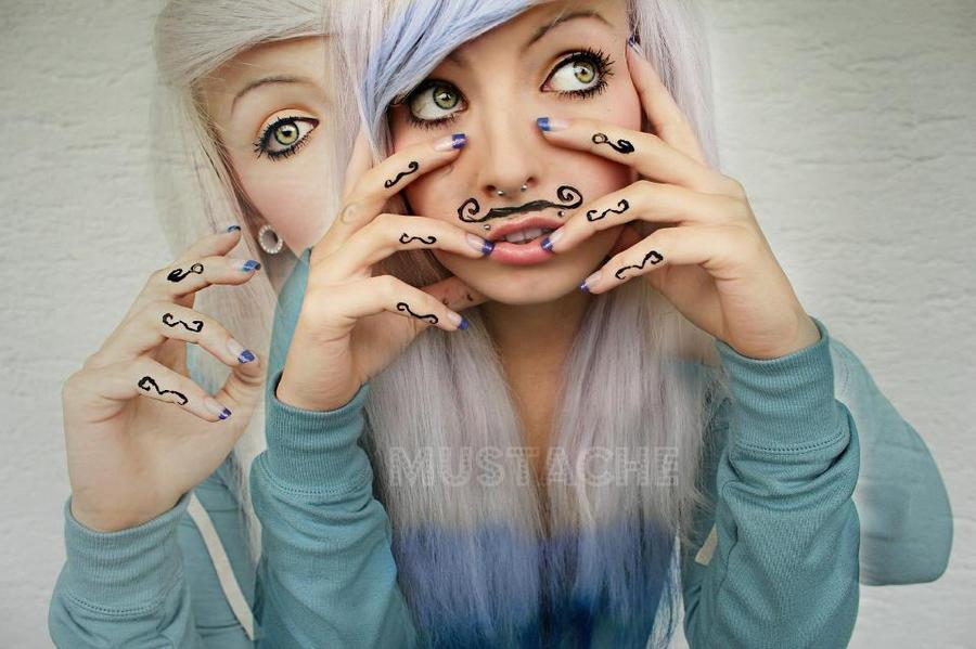mustache :D by SaskiaLove