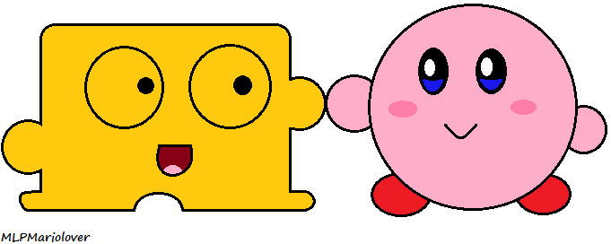 Diskun and Kirby (Art Trade)
