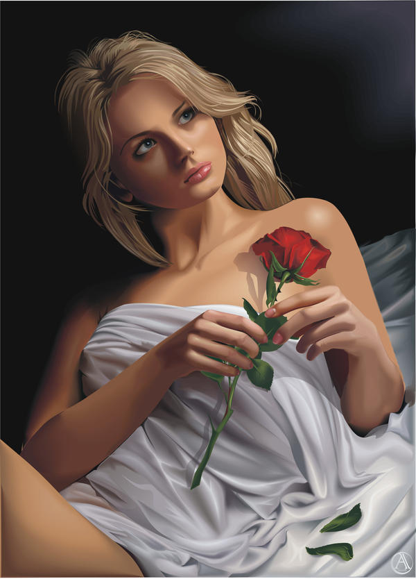 Portrait with a rose