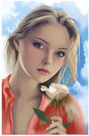Portrait with a rose 2