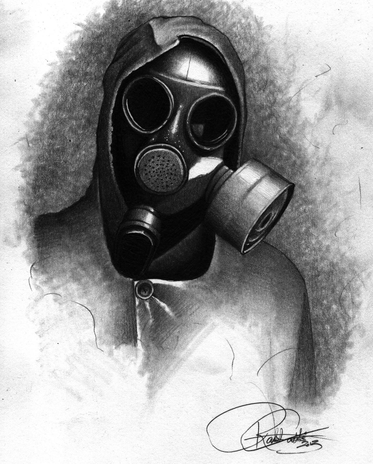 gas mask drawing by bobbycastaldiart on deviantart