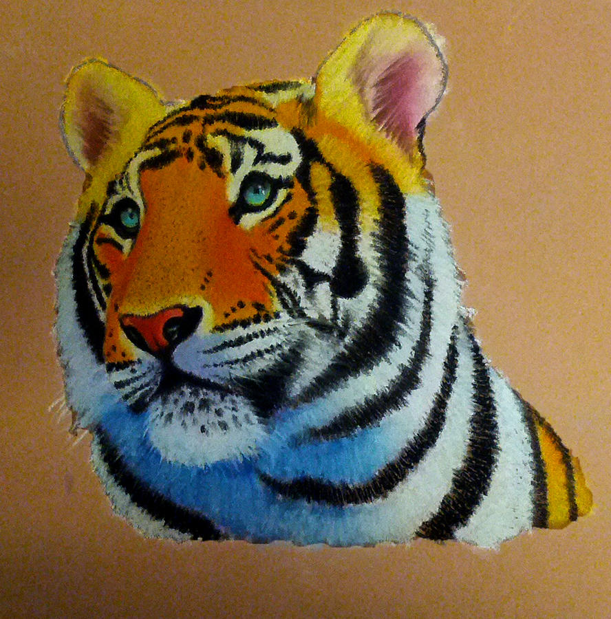 Tiger Pastels by Bobby-castaldi-art