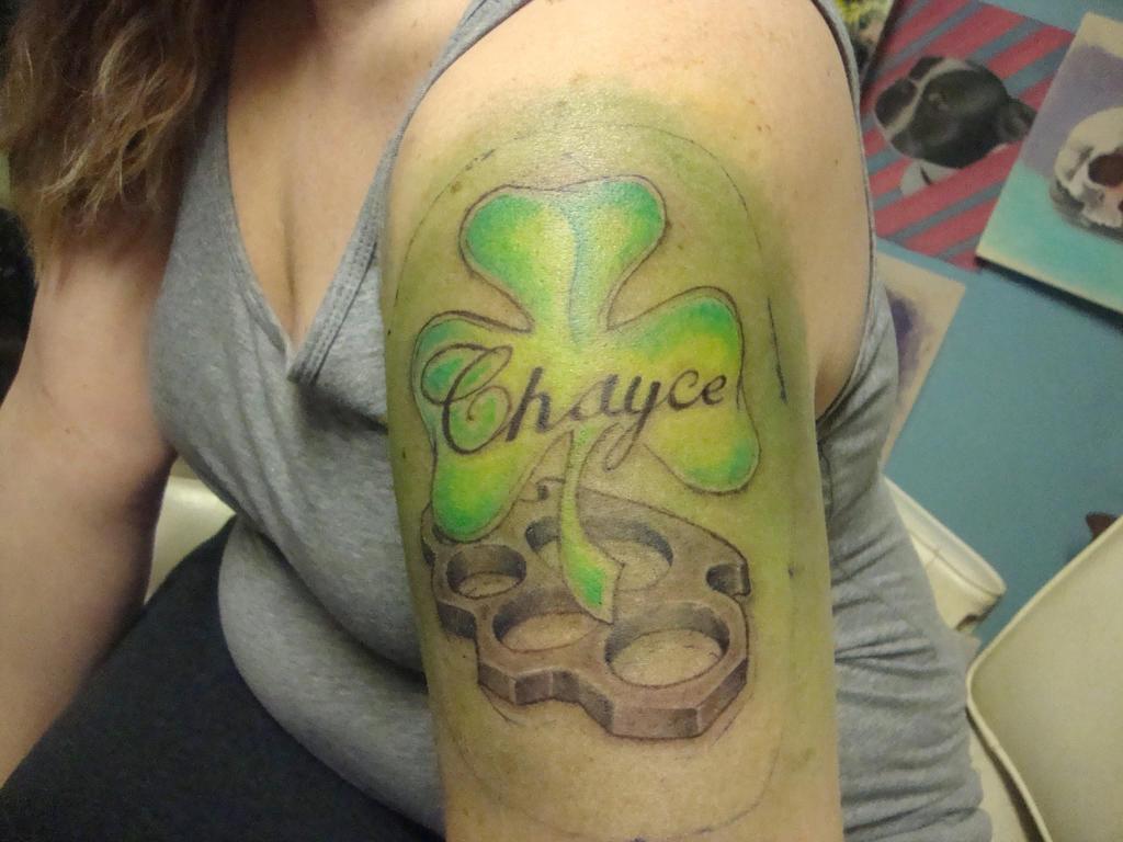 Chayce shamrock finished tattoo by Bobby-castaldi-art