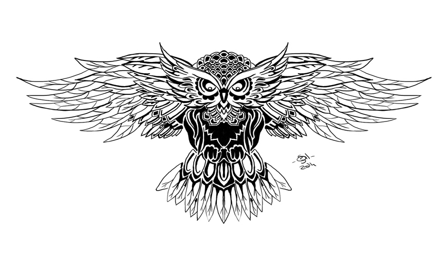 Owl tatoo by Gilmeril