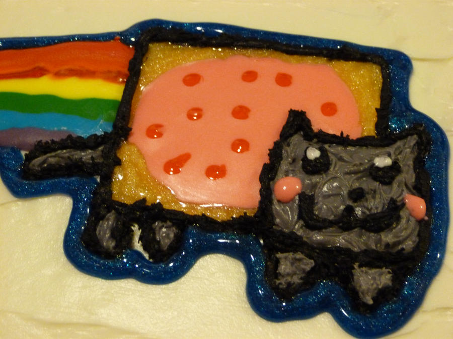 Nyan Cat Cake 1 by bleeds