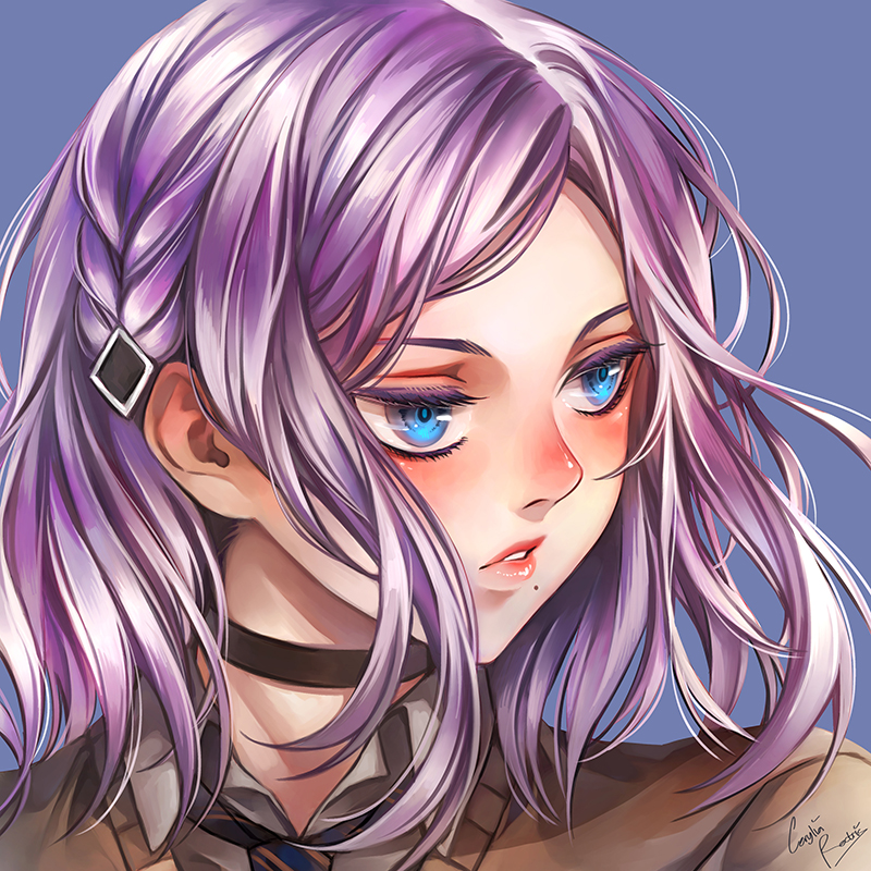 Commission - Ceresia Headshot by CeryliaRectris