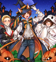 Contest - Hetalia Axis Powers in Halloween by CeryliaRectris