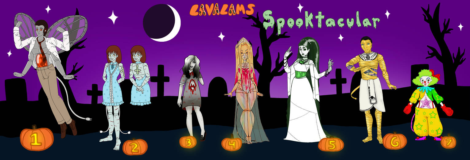 Lavalams Spooktacular Adopts (7/7 OPEN) by pixiesera