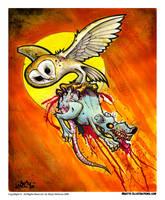 owl vs rat by RietOne