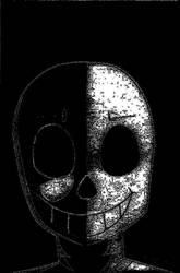 Sans BaW face-spoopy by cosmicArtist-2000