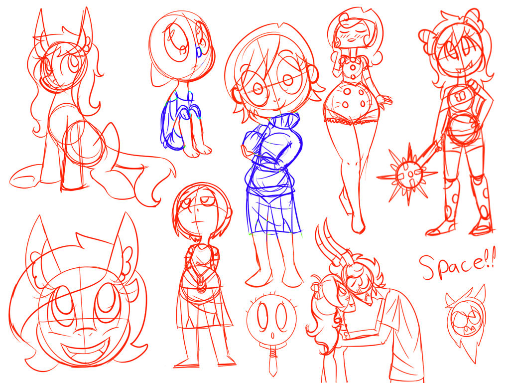 Sketches by cosmicArtist-2000