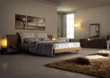 Bedroom by baydogdudesign