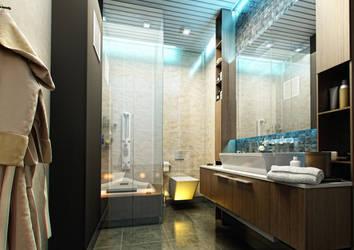 Bathroom by baydogdudesign