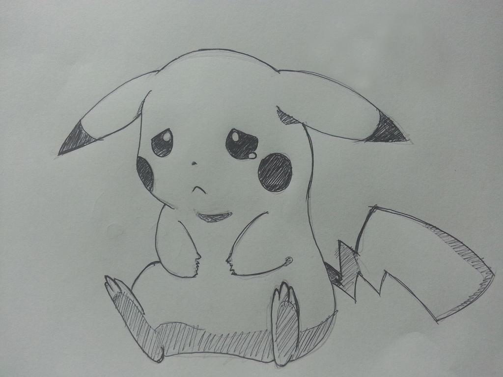 Pikachu crying drawing - photo#6