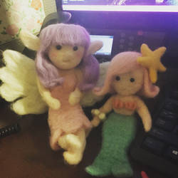 Needlefelt Fairy and Mermaid