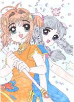 Sakura and Tomoyo by LunaInverseElric