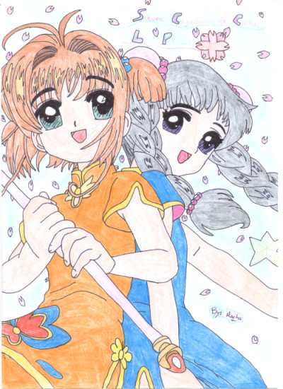 Luna's Art Sakura_and_Tomoyo_by_LunaInverseElric