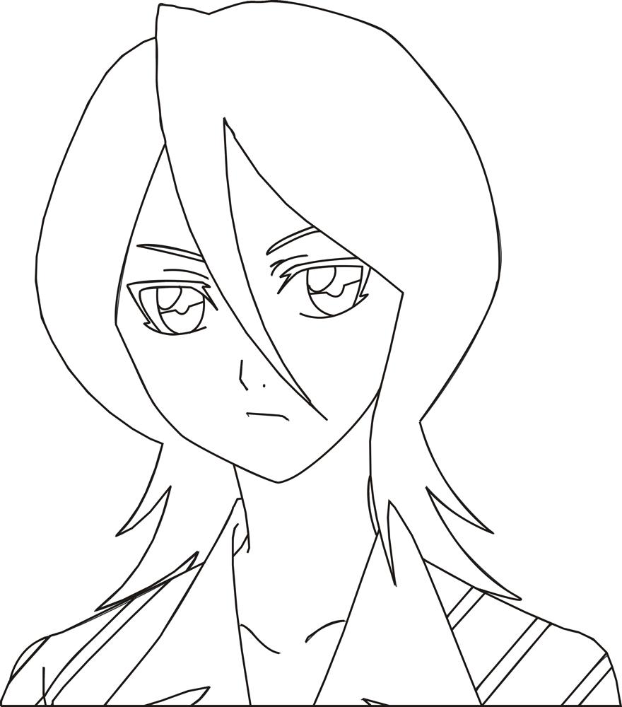 Luna's Fan Art Rukia_Lineart_by_LunaInverseElric