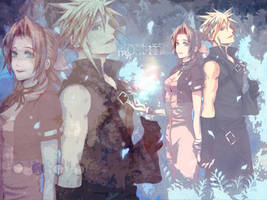 Cloud and Aerith by LunaInverseElric