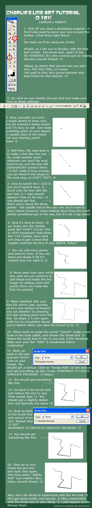 Smooth LineArt Tutorial :D by neuroticle