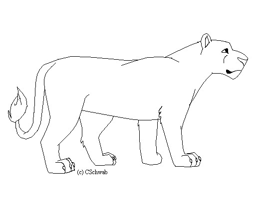 Lioness lineart by xxchuxx on deviantart for Lioness coloring pages