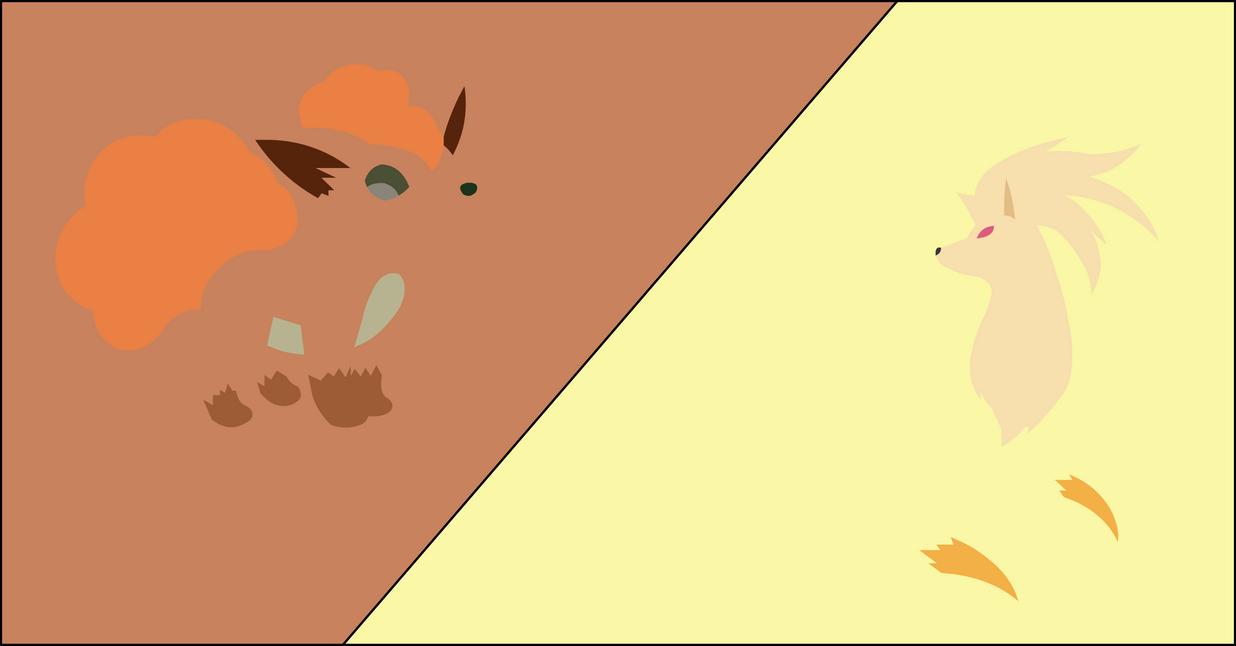 Ninetales+vulpix by dragonitearmy on DeviantArt