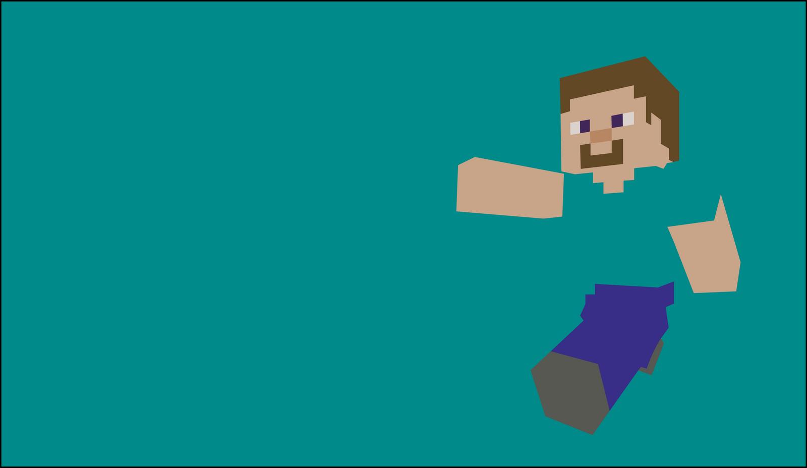 Popular Wallpaper Minecraft Minimalistic - steve_by_dragonitearmy-d6v4333  Snapshot_827153.png