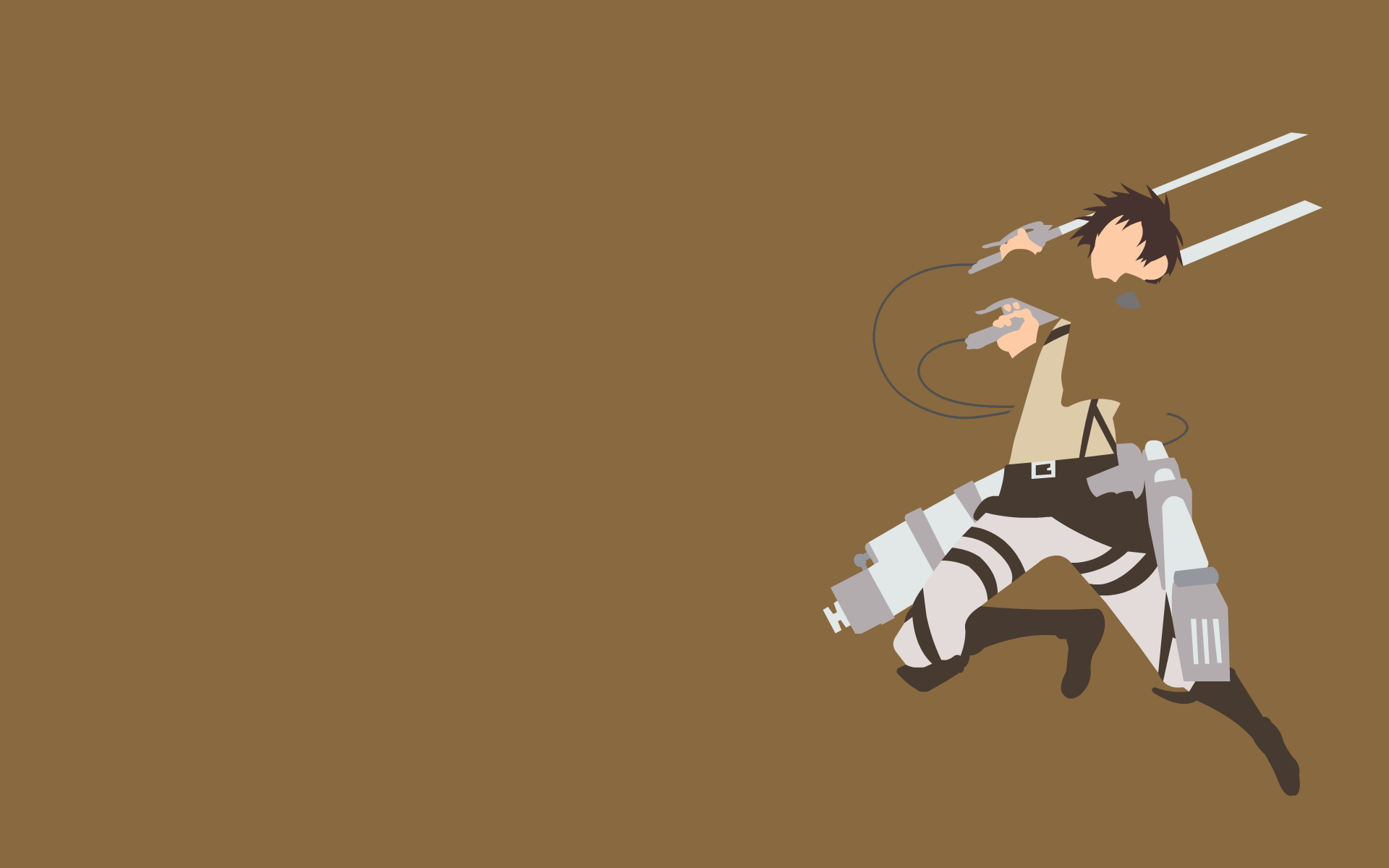 Minimalistic Attack On Titan Wallpaper 4k Gambarku
