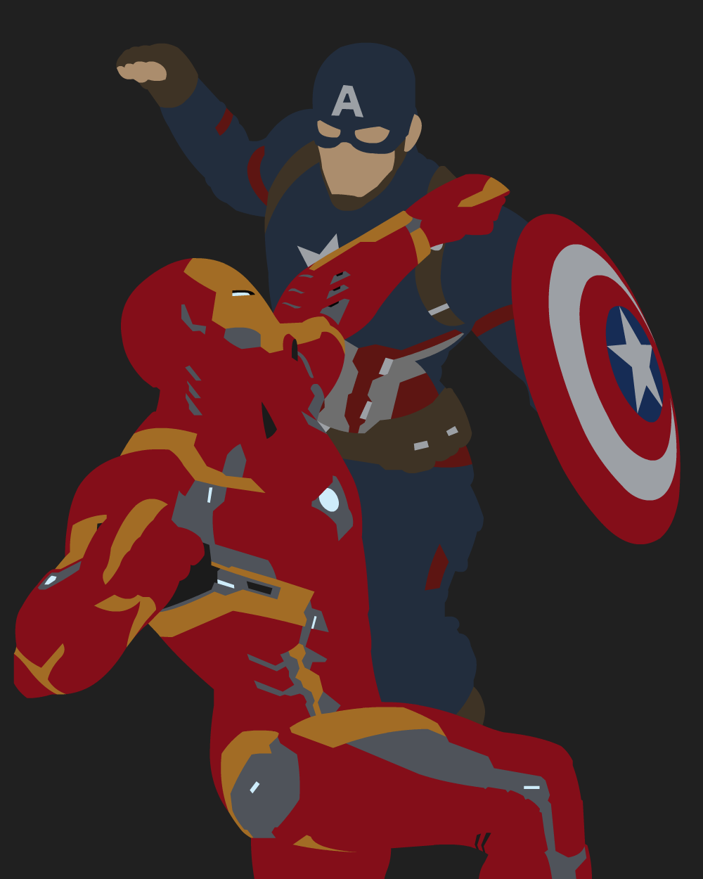 Iron-Man vs Captain America 1 by dragonitearmy on DeviantArt