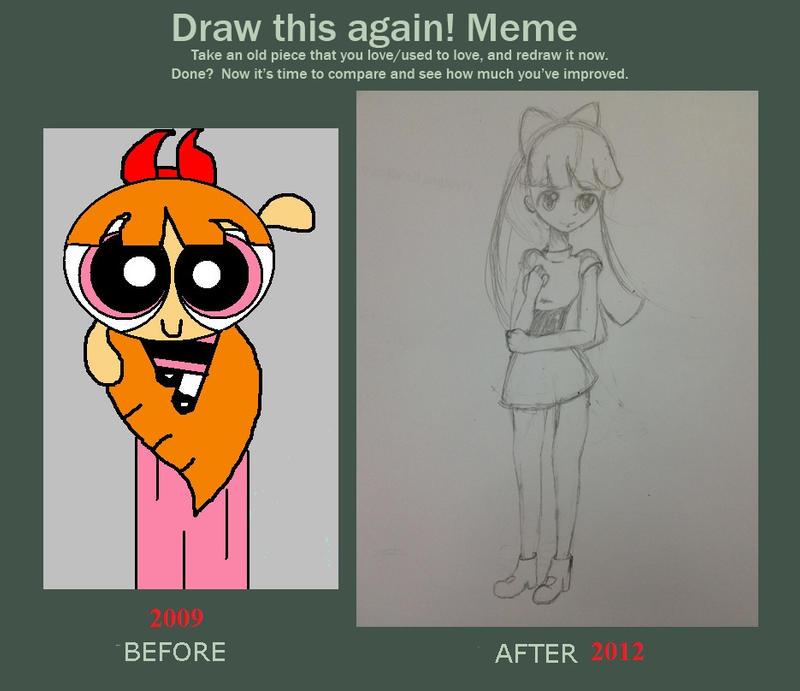 Powerpuff Girl Blossom Draw This Again Meme
