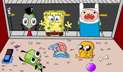 Zim, SpongeBob, Finn Pet Store