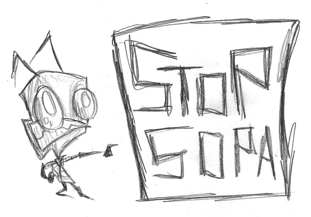 Even ZIM hates SOPA by InvaderSponge
