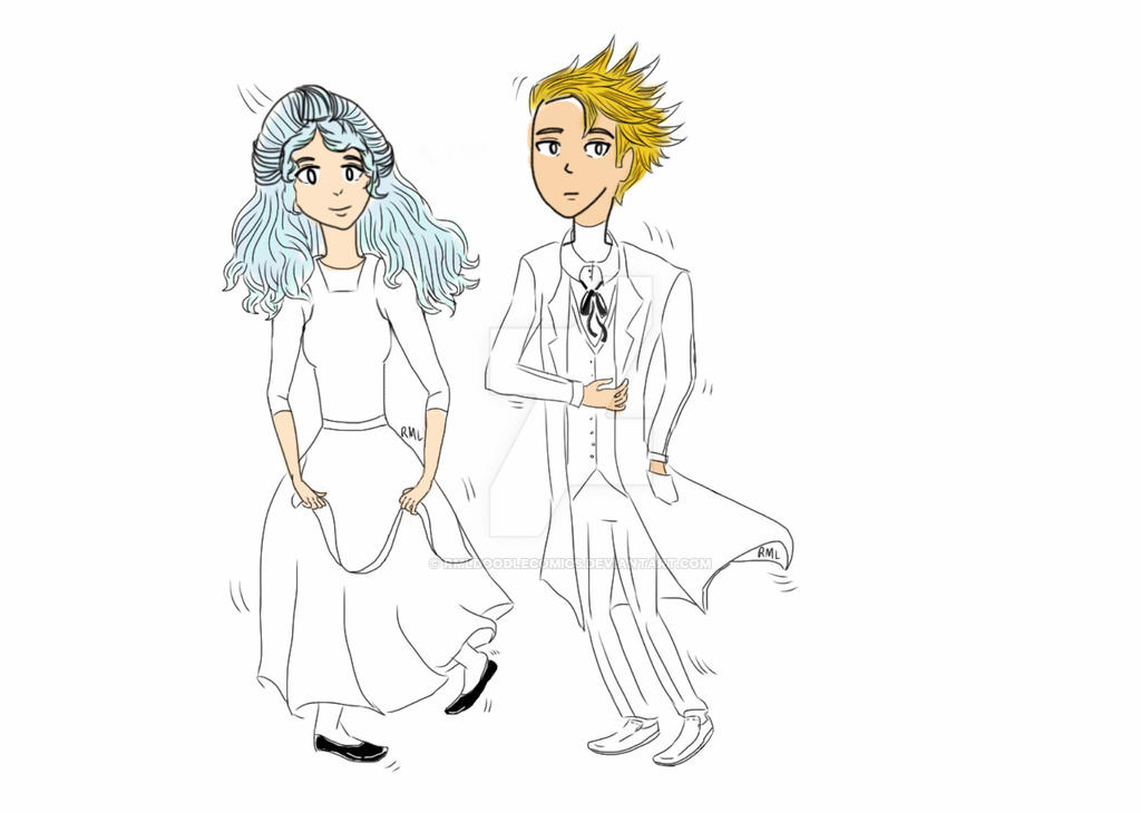 Unfinished redesign characters because... by RMLdoodlecomics