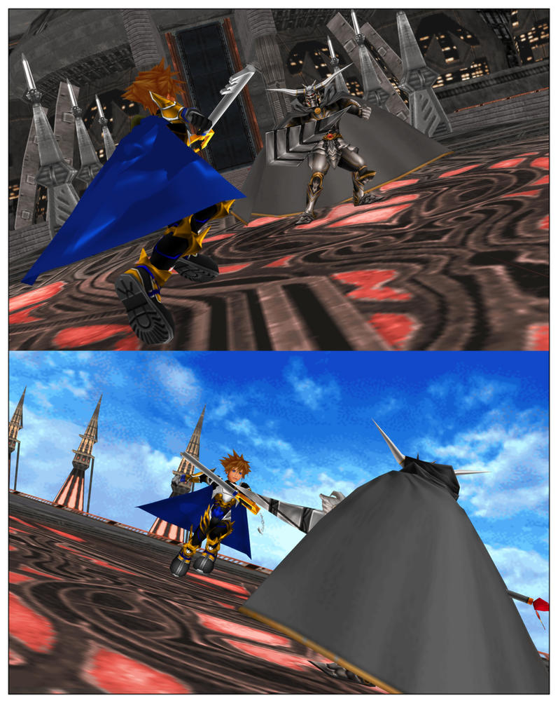 Dissidia - Master Sora vs Garland by todsen19