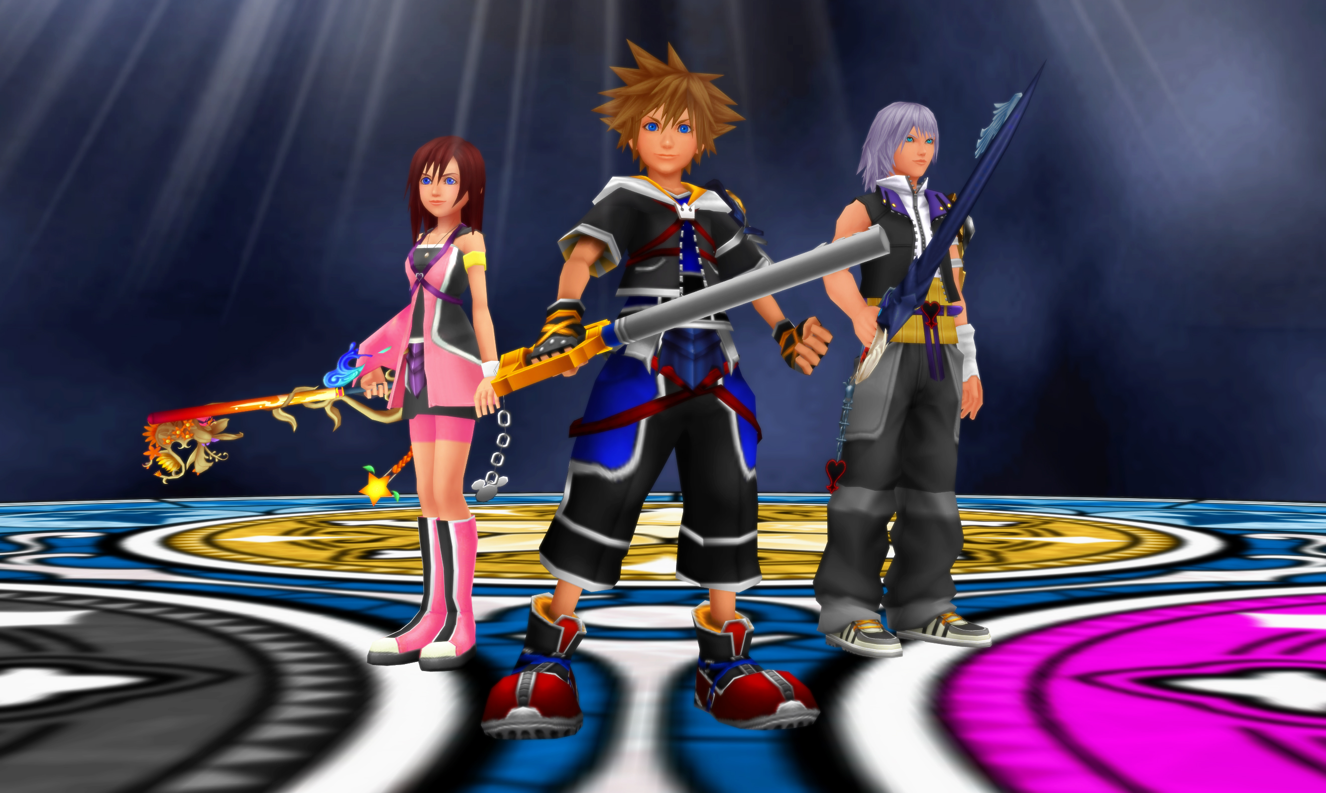 Kh deep dive destiny the destined three by todsen19 on - Kingdom hearts deep dive ...