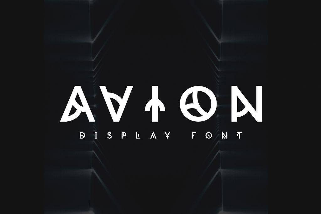 Avion Font by shoelesspeacock