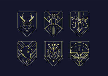 Game of Thrones Sigils by shoelesspeacock