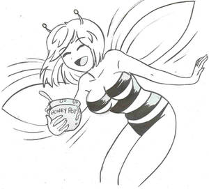 Bee-chan and her Honey pot