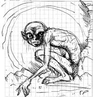 Gollum Sketch by Koku-chan