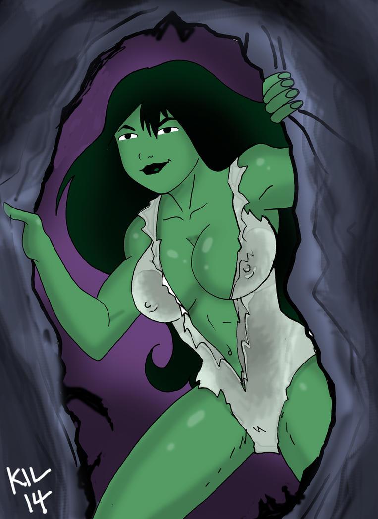 She Hulk Busting out by Koku-chan